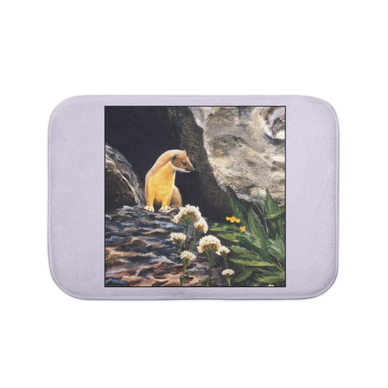 Springtime for Weasel Home Bath Mat by Ferine Fire