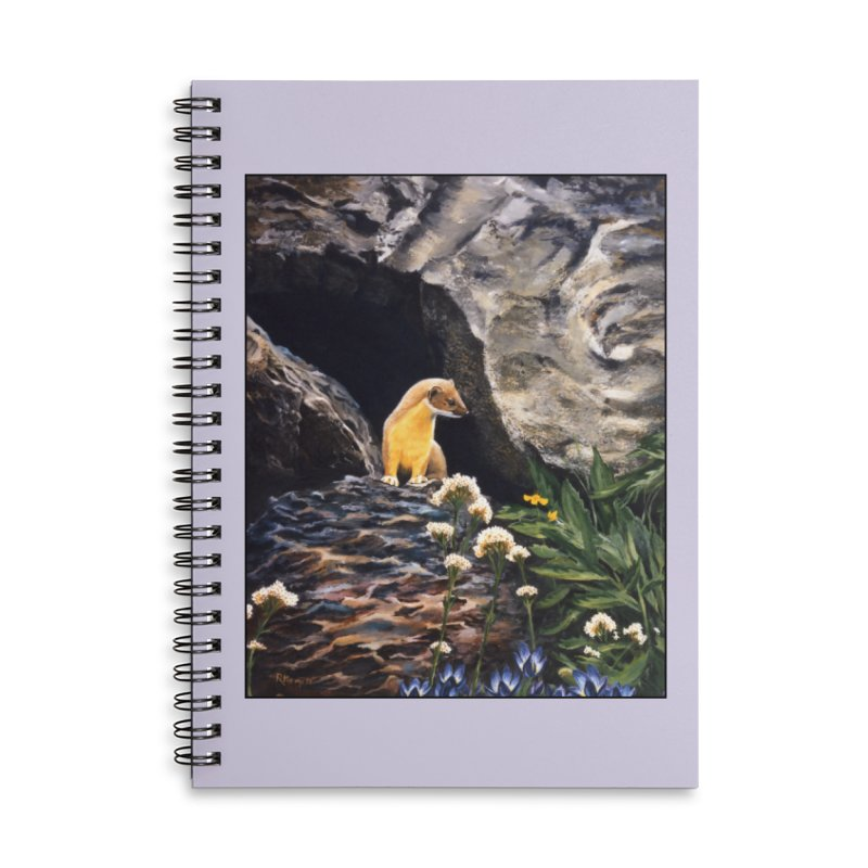 Springtime for Weasel Accessories Lined Spiral Notebook by Ferine Fire