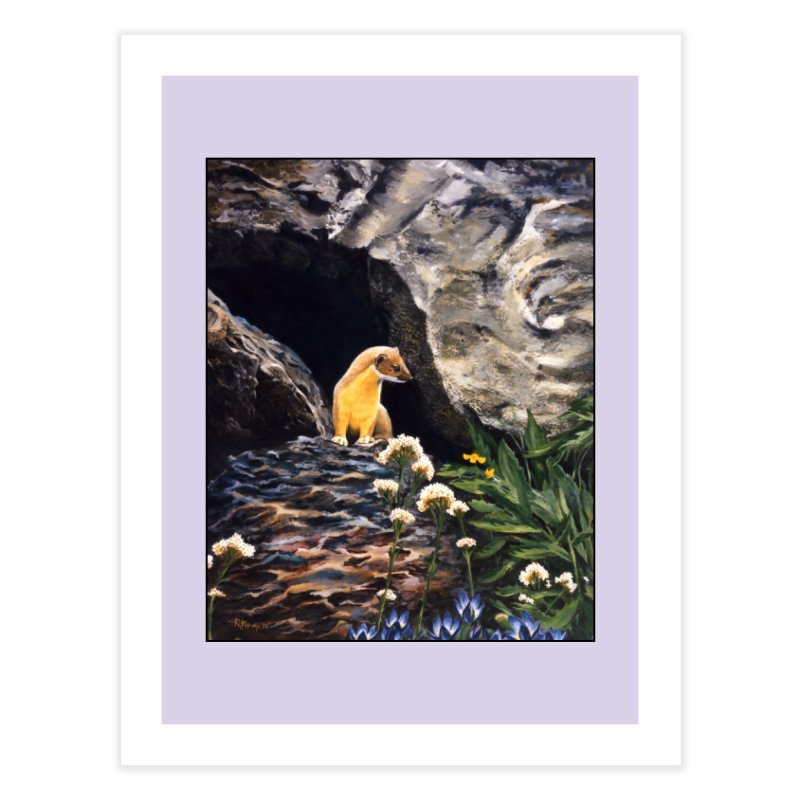 Springtime for Weasel Home Fine Art Print by Ferine Fire