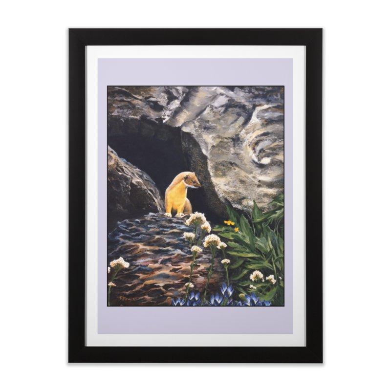 Springtime for Weasel Home Framed Fine Art Print by Ferine Fire
