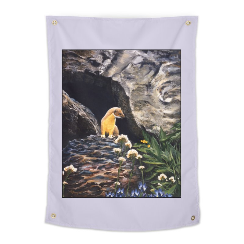 Springtime for Weasel Home Tapestry by Ferine Fire