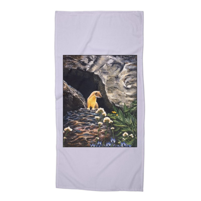 Springtime for Weasel Accessories Beach Towel by Ferine Fire