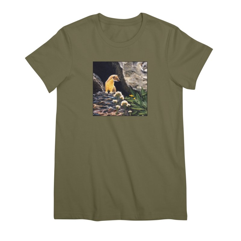 Springtime for Weasel Women's Premium T-Shirt by Ferine Fire