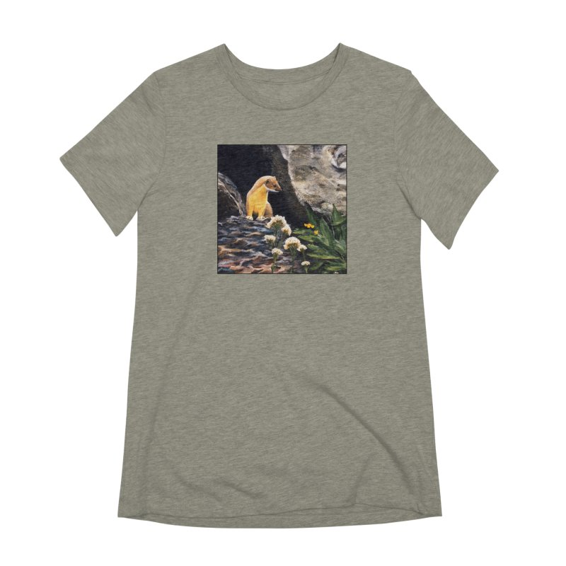 Springtime for Weasel Women's Extra Soft T-Shirt by Ferine Fire