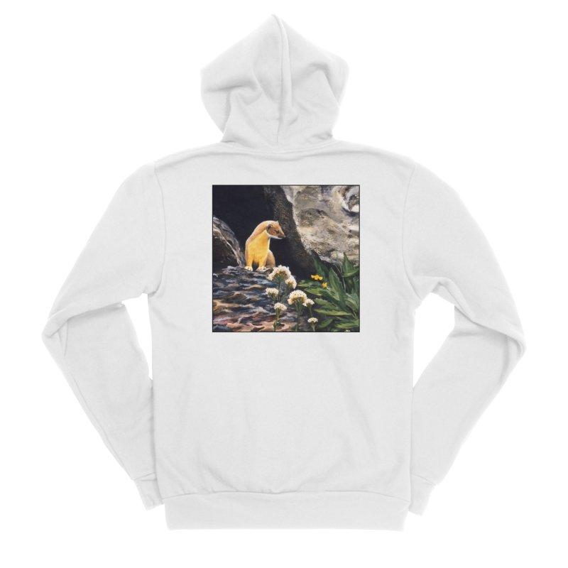 Springtime for Weasel Women's Sponge Fleece Zip-Up Hoody by Ferine Fire