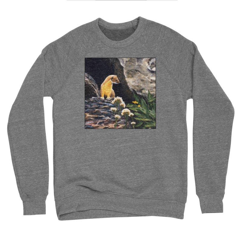 Springtime for Weasel Men's Sponge Fleece Sweatshirt by Ferine Fire