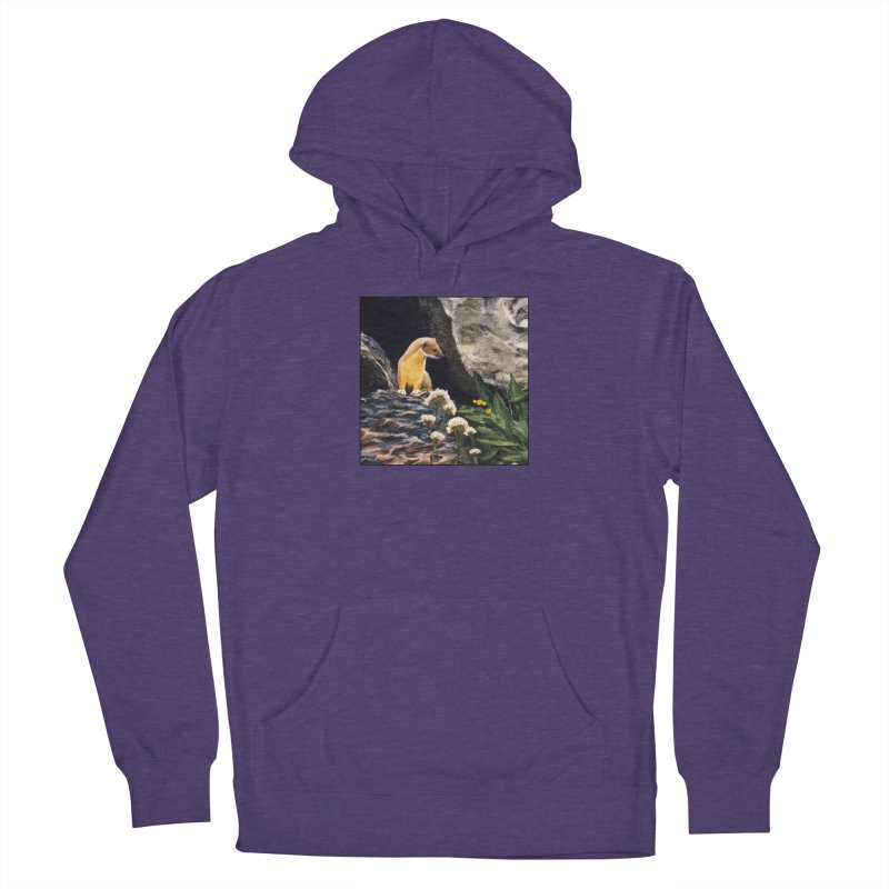 Springtime for Weasel Women's French Terry Pullover Hoody by Ferine Fire