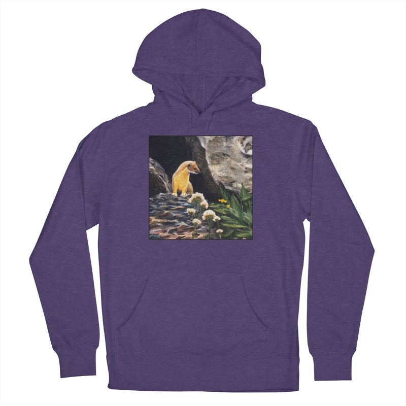 Springtime for Weasel Men's French Terry Pullover Hoody by Ferine Fire