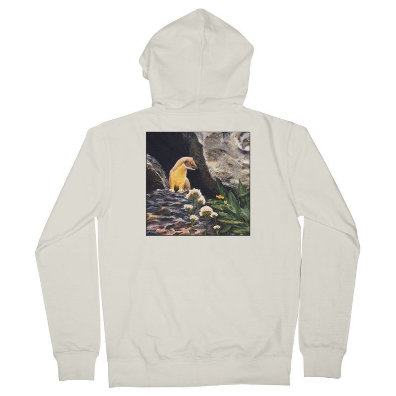 Springtime for Weasel Women's French Terry Zip-Up Hoody by Ferine Fire