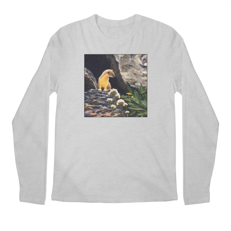 Springtime for Weasel Men's Regular Longsleeve T-Shirt by Ferine Fire