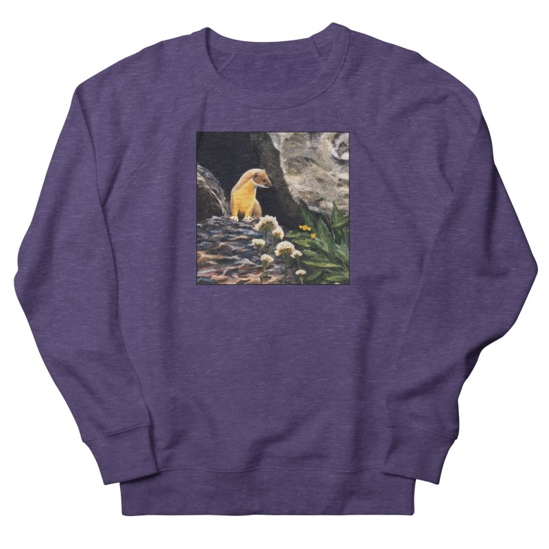 Springtime for Weasel Women's French Terry Sweatshirt by Ferine Fire