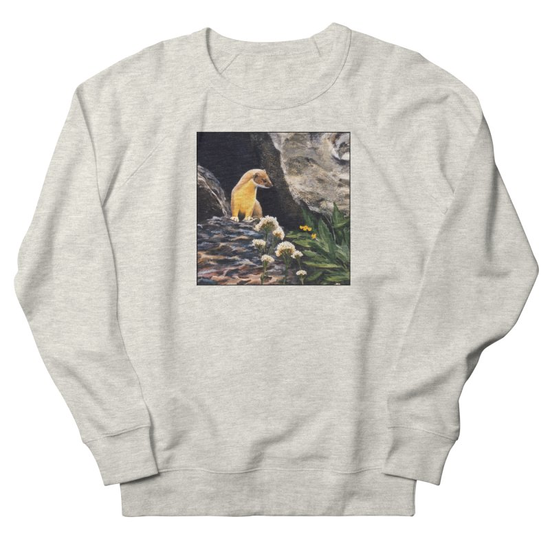 Springtime for Weasel Women's French Terry Sweatshirt by Ferine Fire