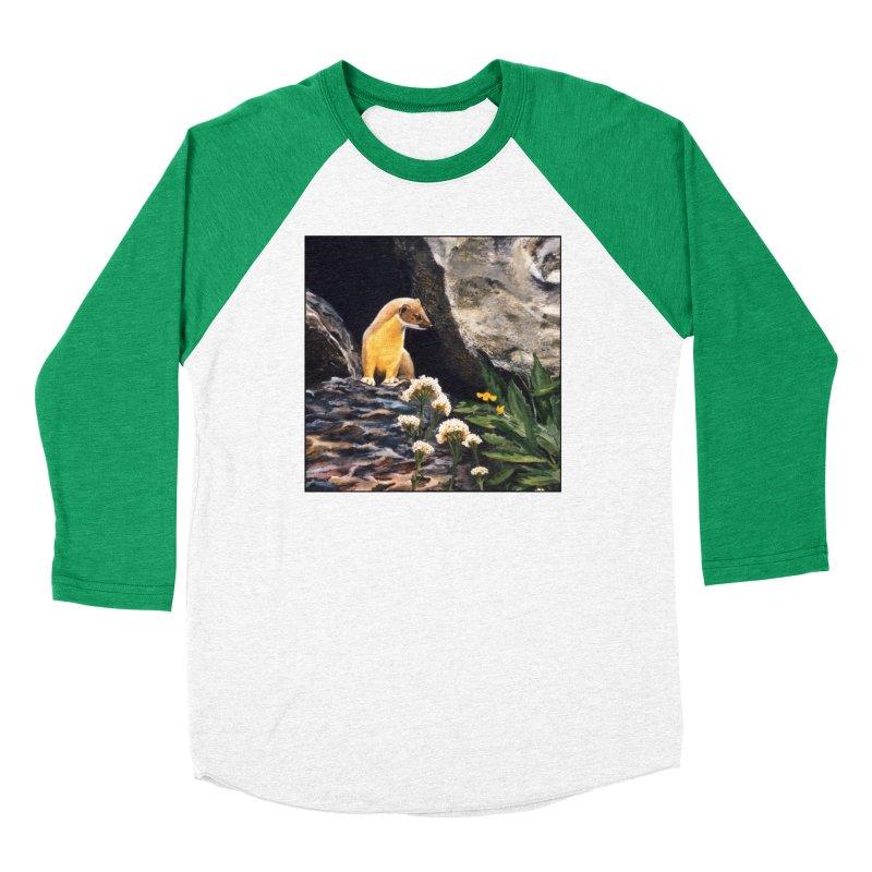 Springtime for Weasel Women's Baseball Triblend Longsleeve T-Shirt by Ferine Fire