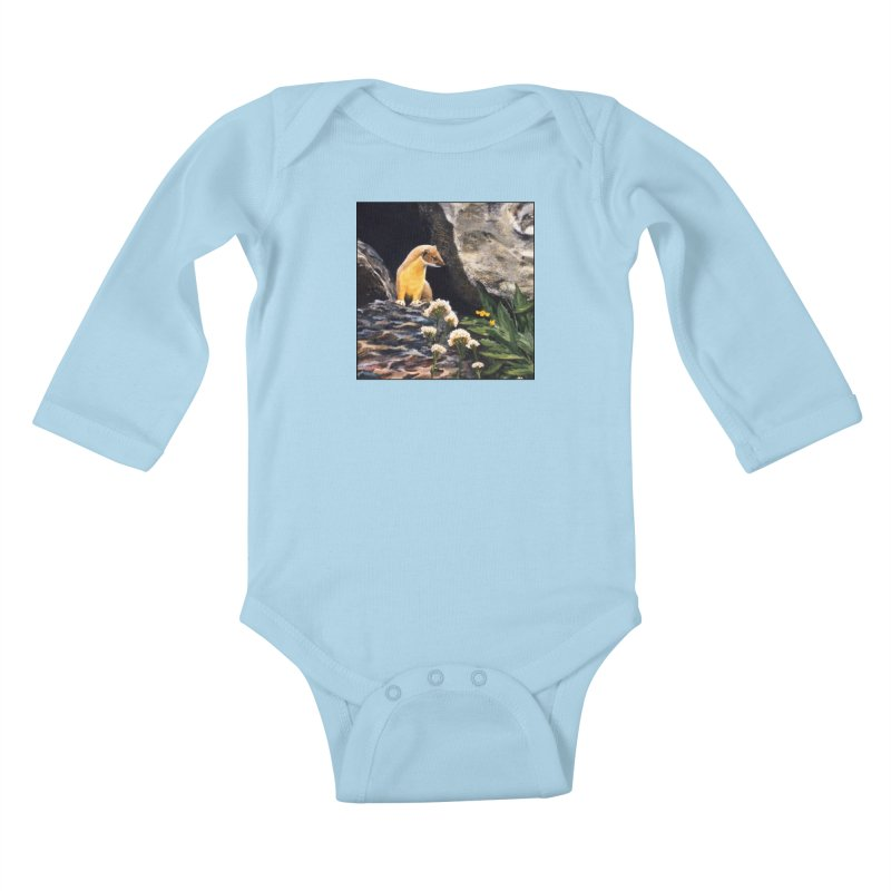 Springtime for Weasel Kids Baby Longsleeve Bodysuit by Ferine Fire
