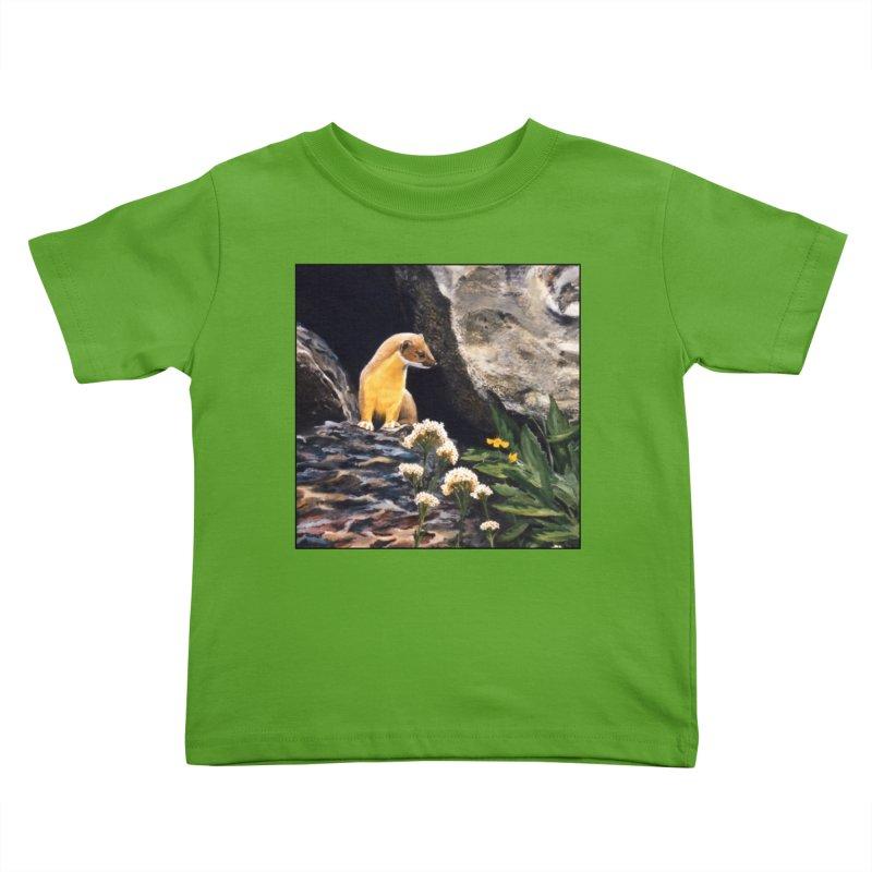 Springtime for Weasel Kids Toddler T-Shirt by Ferine Fire