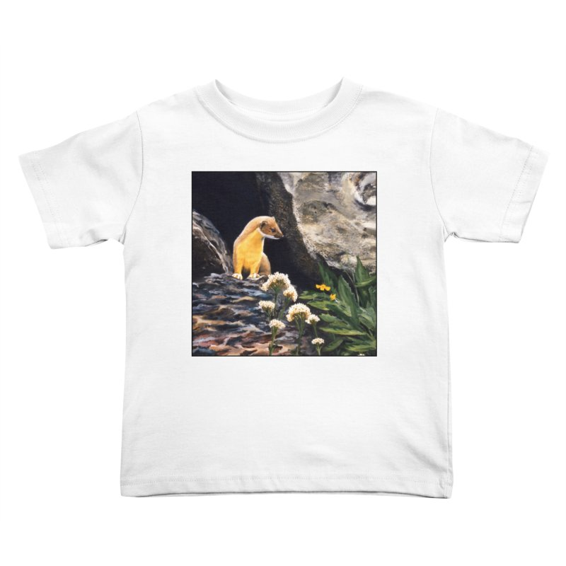 Springtime for Weasel Kids Toddler T-Shirt by Ferine Fire