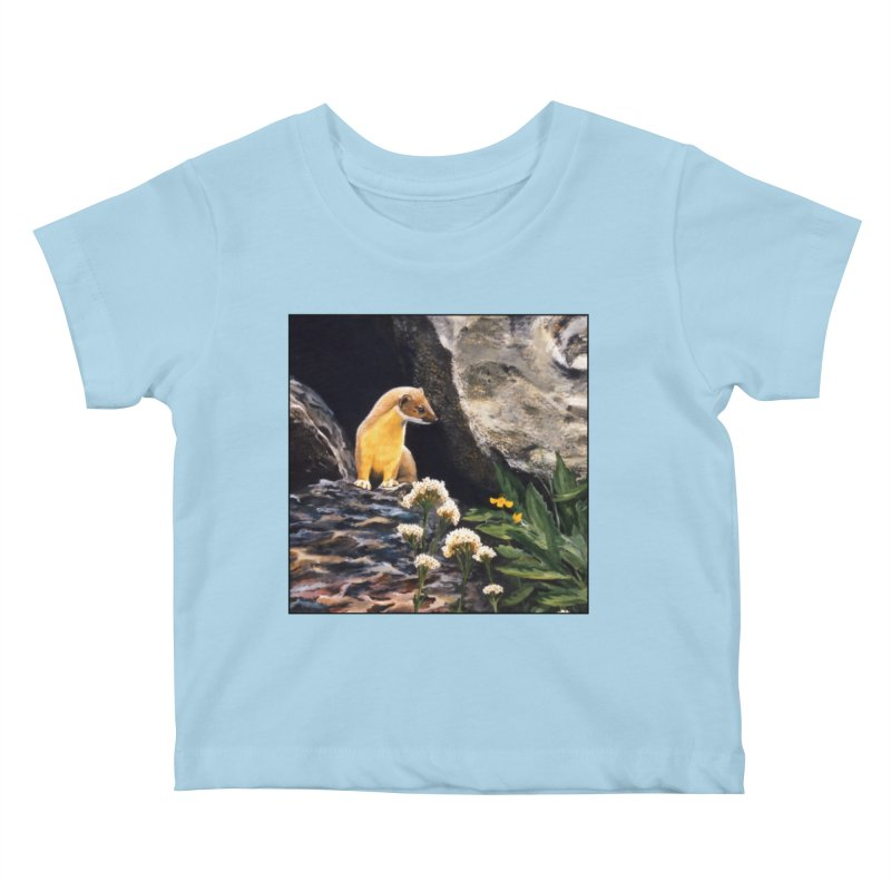 Springtime for Weasel Kids Baby T-Shirt by Ferine Fire