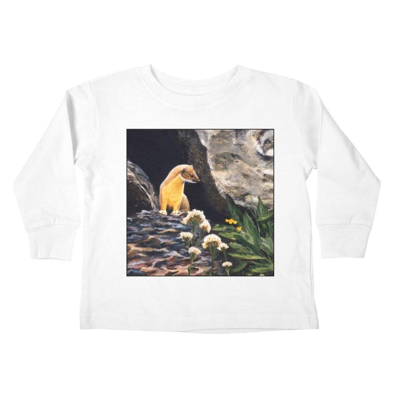 Springtime for Weasel Kids Toddler Longsleeve T-Shirt by Ferine Fire