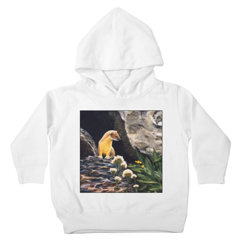 Springtime for Weasel Kids Toddler Pullover Hoody by Ferine Fire