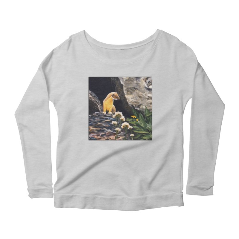 Springtime for Weasel Women's Scoop Neck Longsleeve T-Shirt by Ferine Fire