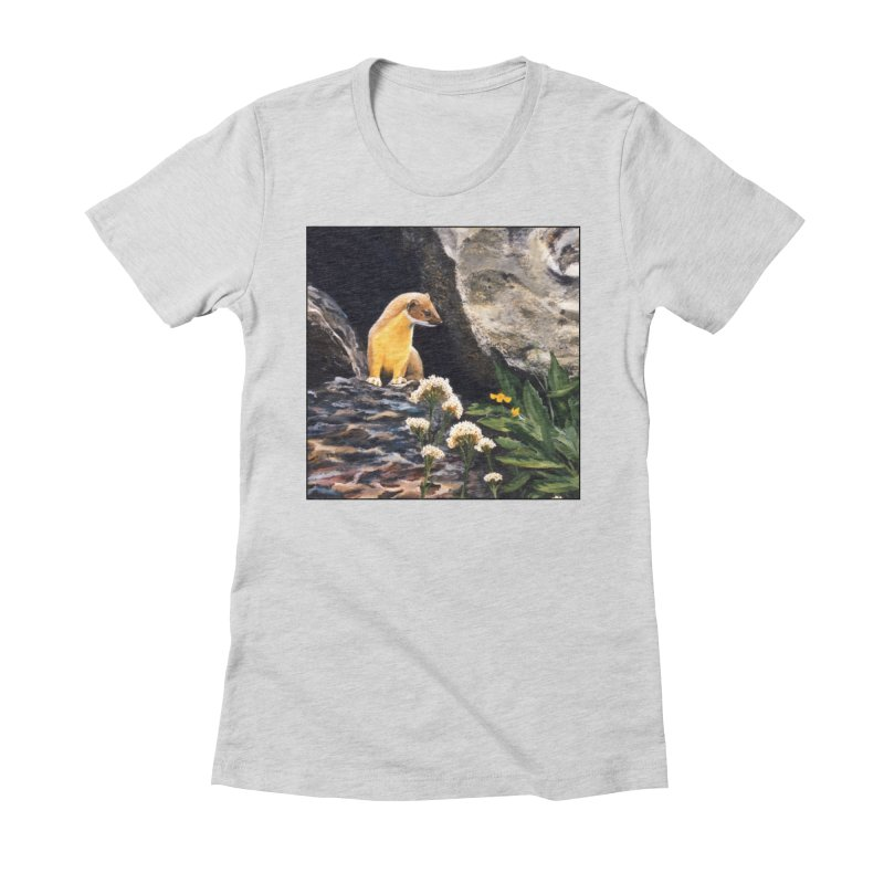 Springtime for Weasel Women's Fitted T-Shirt by Ferine Fire