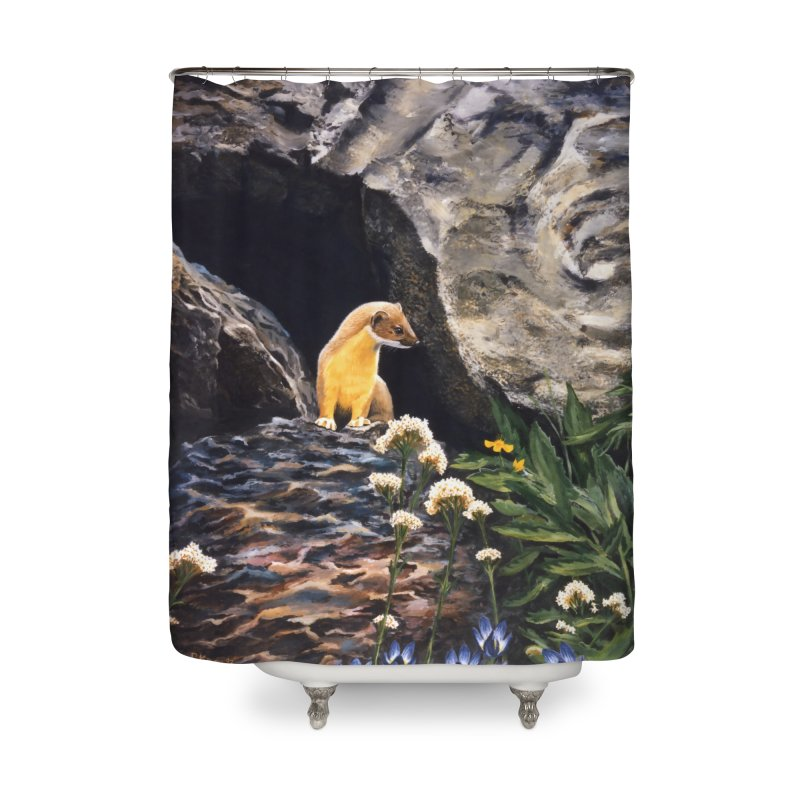 Springtime for Weasel Home Shower Curtain by Ferine Fire