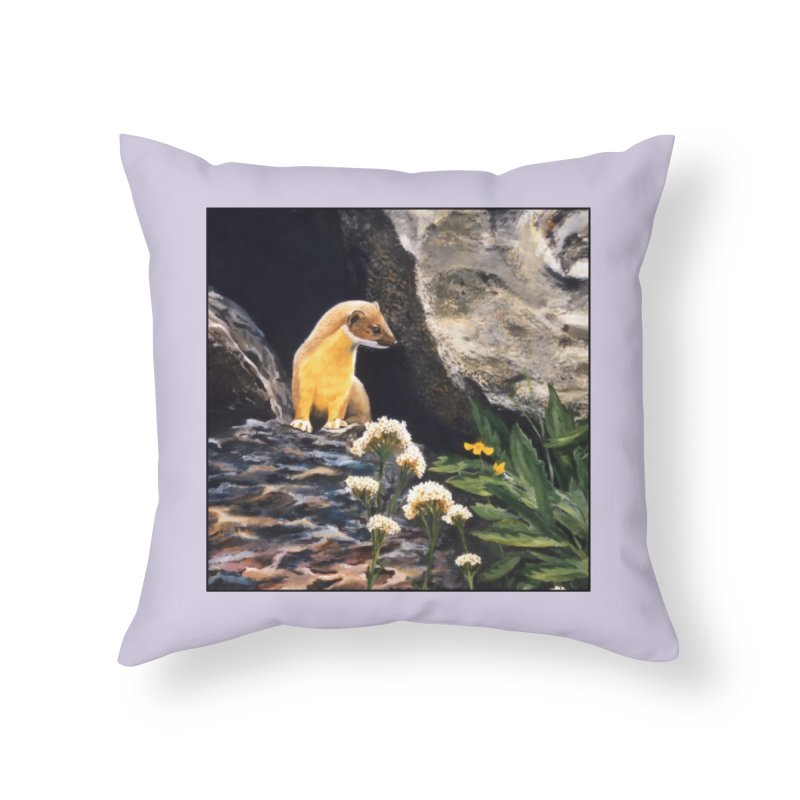 Springtime for Weasel Home Throw Pillow by Ferine Fire