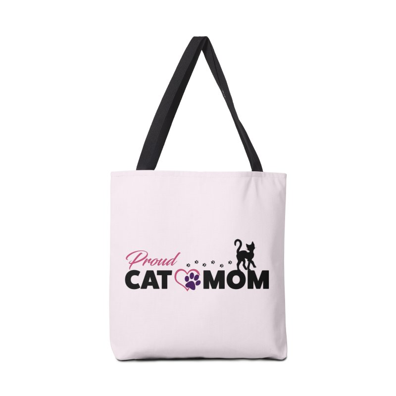 Proud Cat Mom Accessories Tote Bag Bag by Ferine Fire