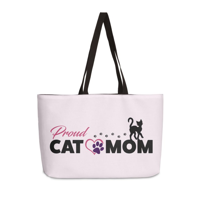 Proud Cat Mom Accessories Weekender Bag Bag by Ferine Fire