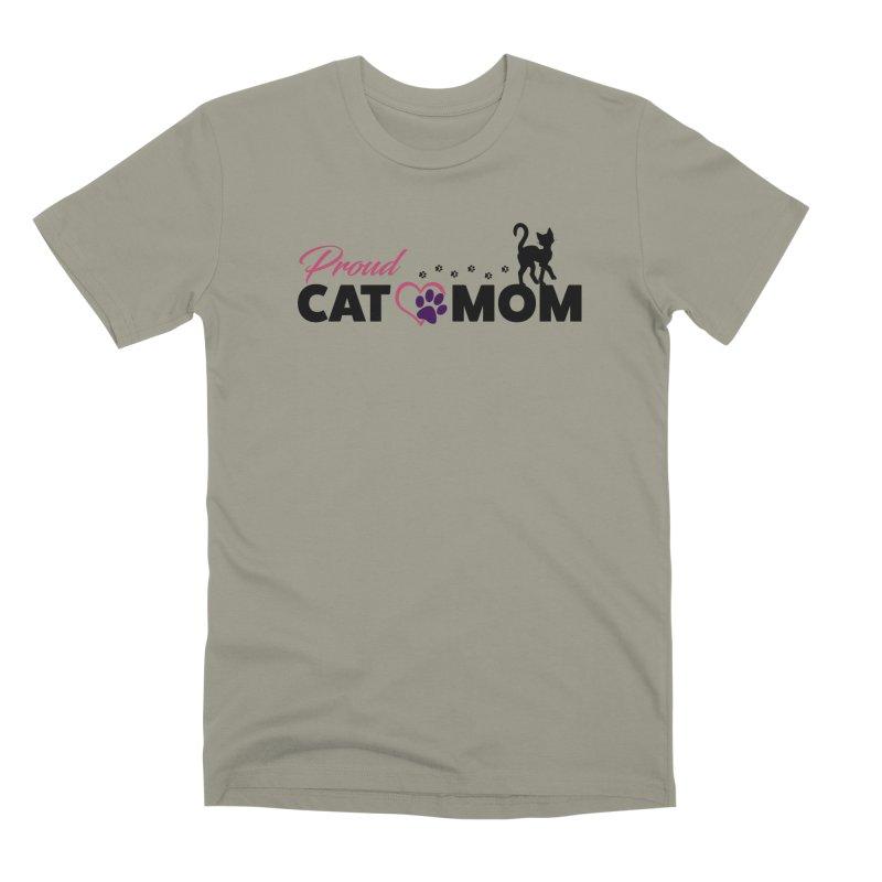 Proud Cat Mom Men's Premium T-Shirt by Ferine Fire