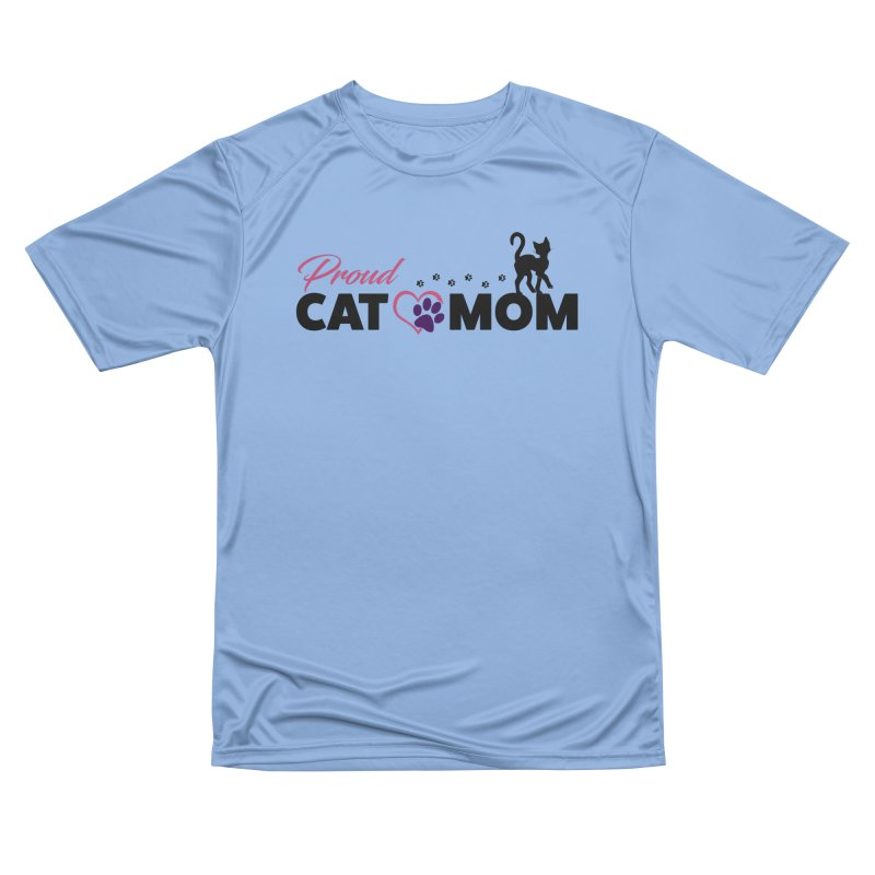 Proud Cat Mom Men's Performance T-Shirt by Ferine Fire