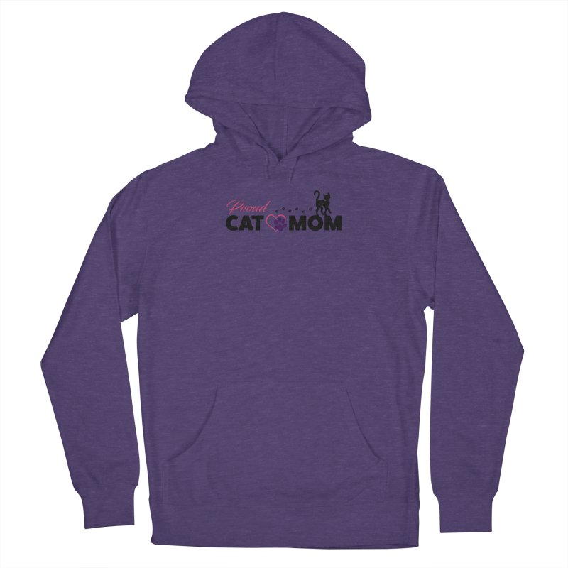 Proud Cat Mom Men's French Terry Pullover Hoody by Ferine Fire