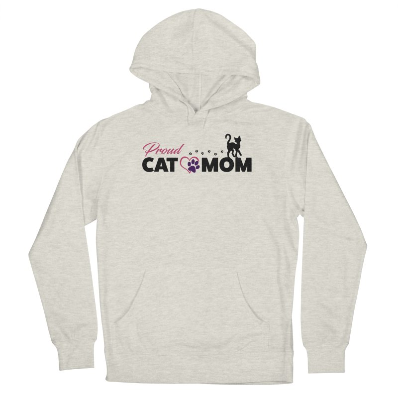 Proud Cat Mom Women's French Terry Pullover Hoody by Ferine Fire