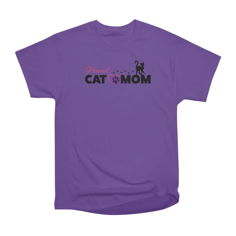Proud Cat Mom Men's Heavyweight T-Shirt by Ferine Fire