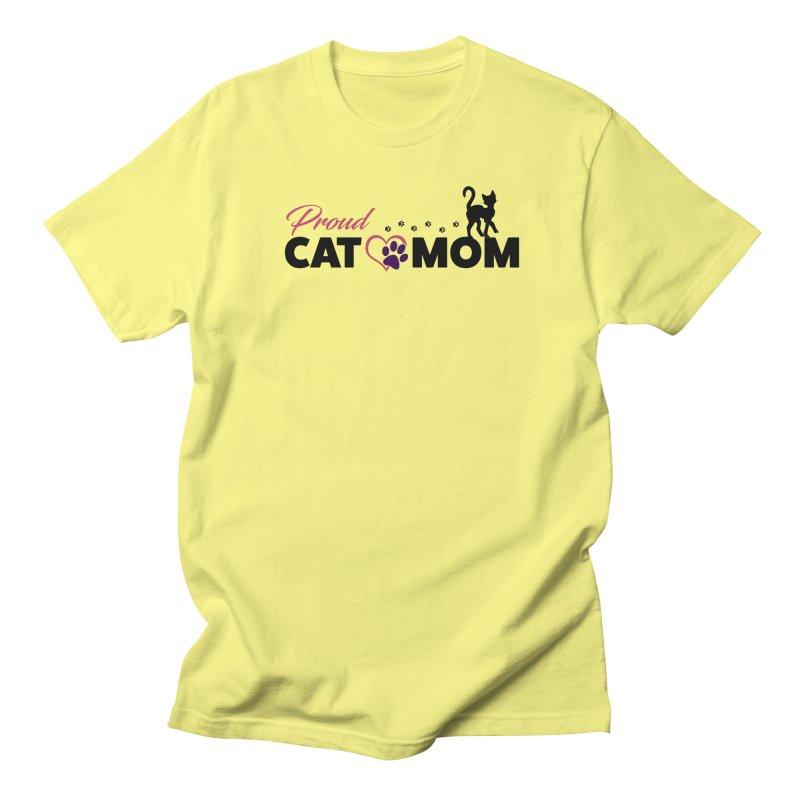Proud Cat Mom Men's T-Shirt by Ferine Fire