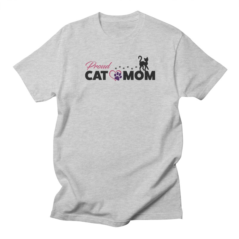 Proud Cat Mom Men's Regular T-Shirt by Ferine Fire