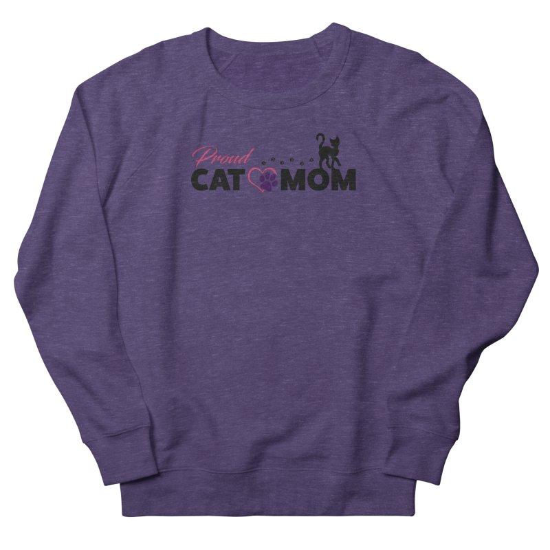 Proud Cat Mom Women's French Terry Sweatshirt by Ferine Fire