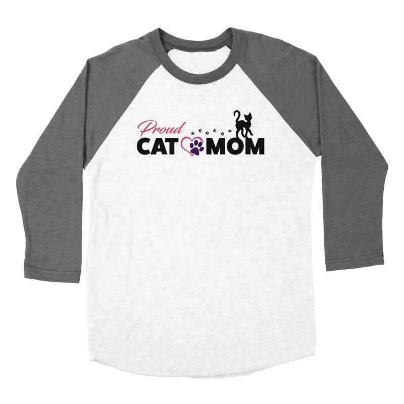 Proud Cat Mom Men's Baseball Triblend Longsleeve T-Shirt by Ferine Fire