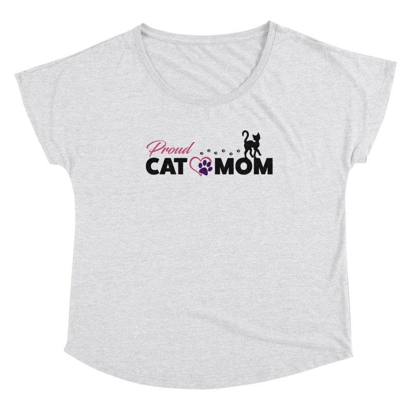 Proud Cat Mom Women's Scoop Neck by Ferine Fire