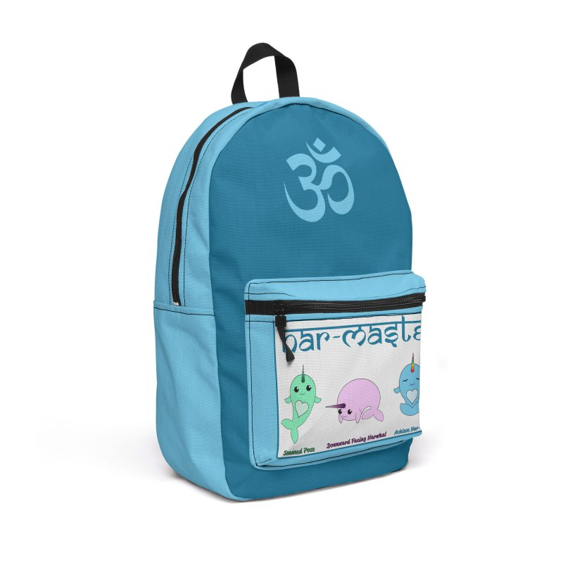 Narwhals Doing Yoga Accessories Backpack Bag by Ferine Fire