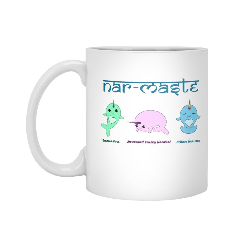 Narwhals Doing Yoga Accessories Standard Mug by Ferine Fire