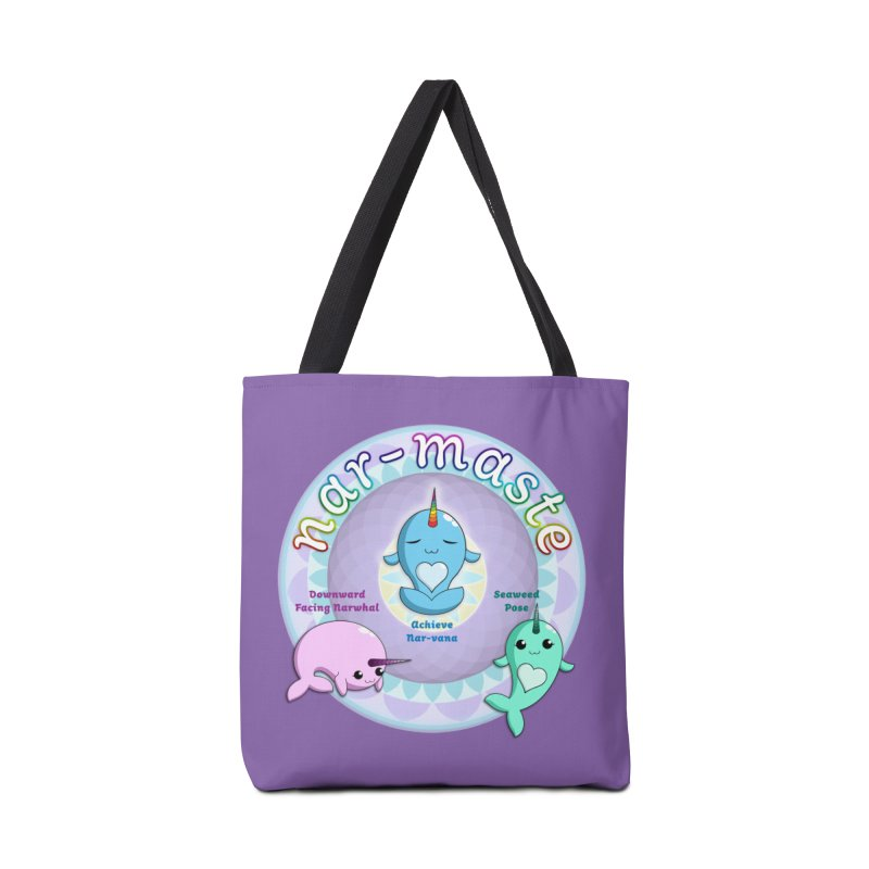 Narwhals Doing Yoga Accessories Tote Bag Bag by Ferine Fire