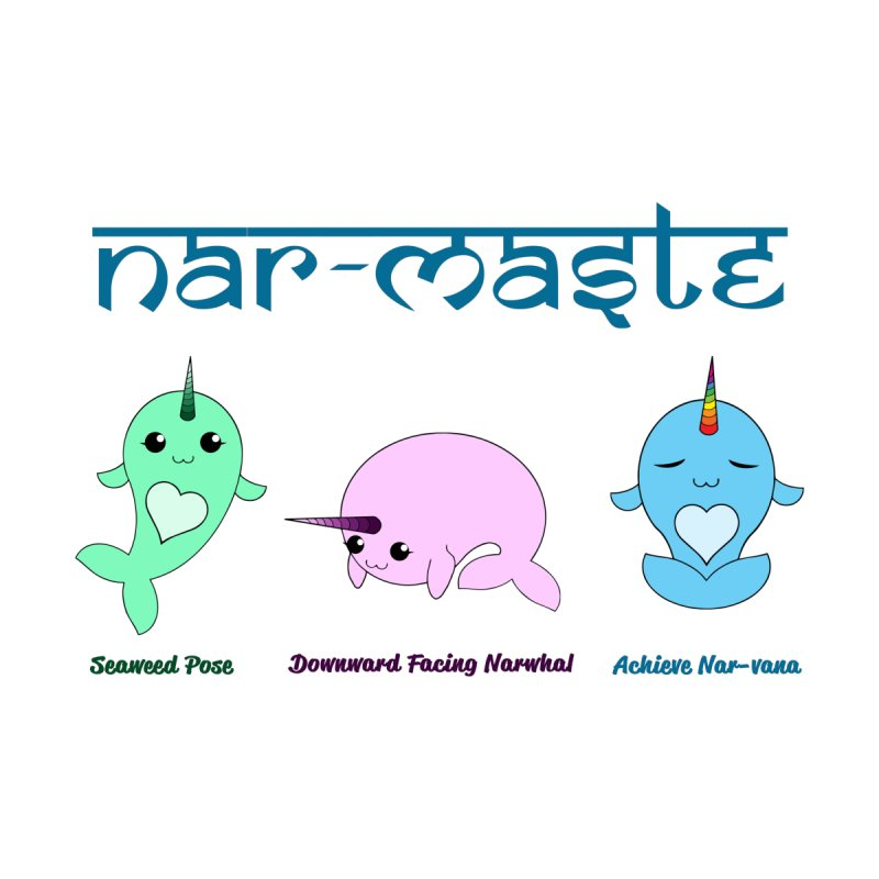 Narwhals Doing Yoga by Ferine Fire