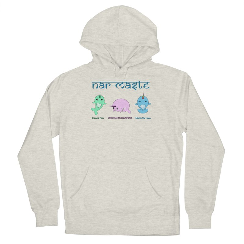 Narwhals Doing Yoga Men's French Terry Pullover Hoody by Ferine Fire