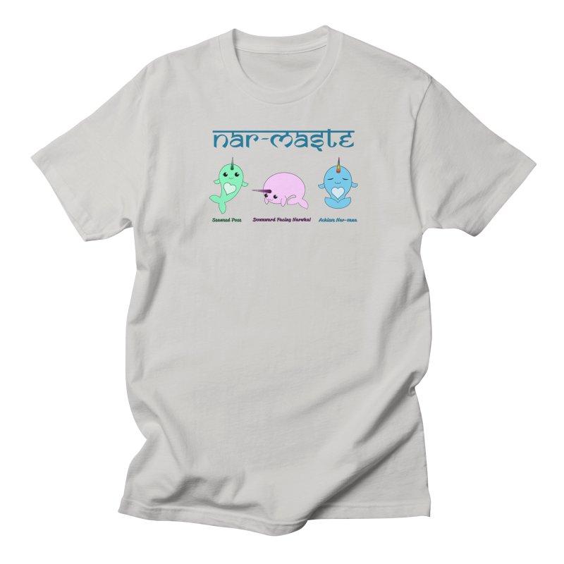 Narwhals Doing Yoga Men's Regular T-Shirt by Ferine Fire