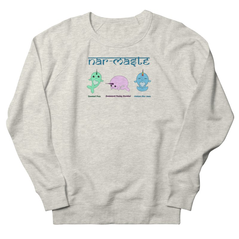 Narwhals Doing Yoga Women's French Terry Sweatshirt by Ferine Fire