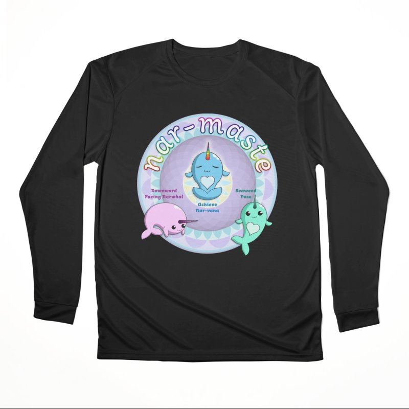 Narwhals Doing Yoga Women's Performance Unisex Longsleeve T-Shirt by Ferine Fire