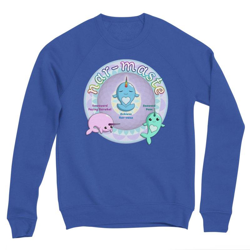 Narwhals Doing Yoga Men's Sponge Fleece Sweatshirt by Ferine Fire