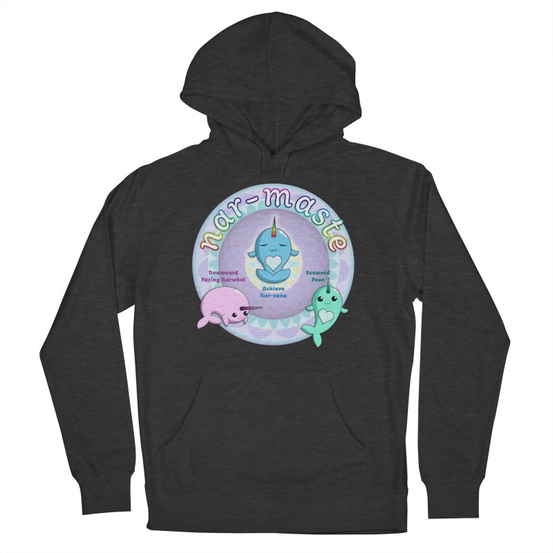 Narwhals Doing Yoga Women's French Terry Pullover Hoody by Ferine Fire