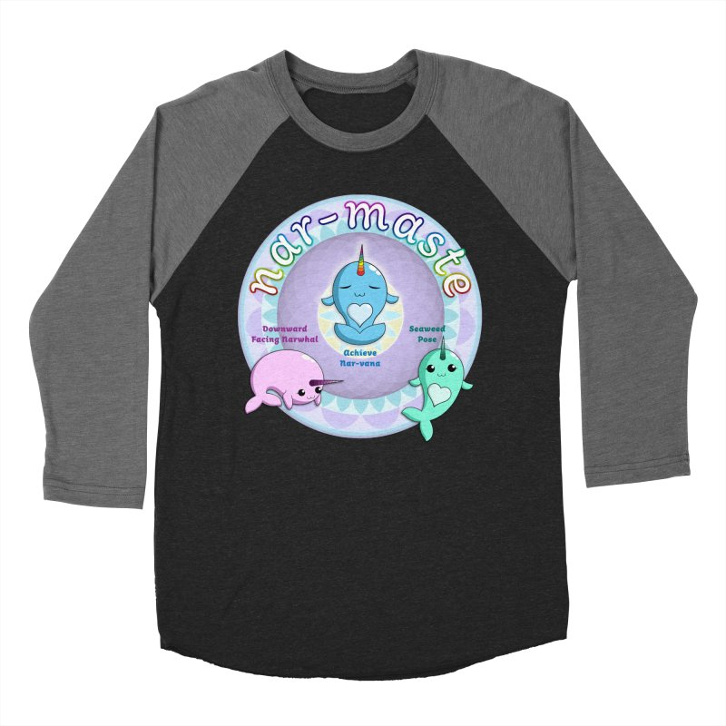 Narwhals Doing Yoga Men's Baseball Triblend Longsleeve T-Shirt by Ferine Fire